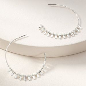 Stella & Dot Silver Petal Earrings